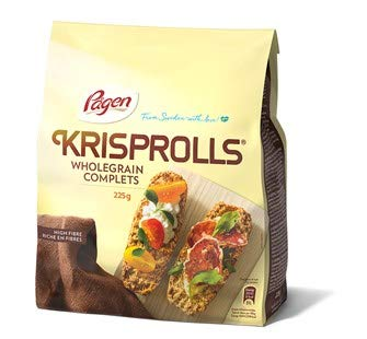 Pagen Original Wholegrain Wheat Krisprolls, 7.9-Ounce Packages (Pack of 5) by Pagen