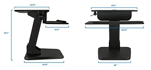 It Sit Stand Desk Standing Desk HeightAdjustable Sit to Stand