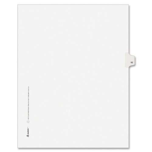 Hot Avery Individual Legal Exhibit Dividers, Avery Style, 10, Side Tab, 8.5 x 11 Inches, Pack of 25 (11920) free shipping