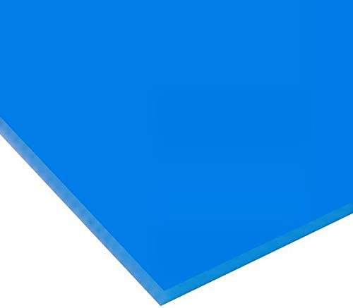 日本製 アクリル板 ブルー(キャスト板) 厚み5mm 900X900mm 縮小カット1枚無料 糸面取り仕上(手を切る事はありません)(キャンセル返品不可)