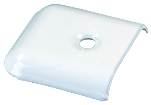 JR Products 49655 Metal Vinyl End Cap, Pack of 4 - Polar White by JR Products