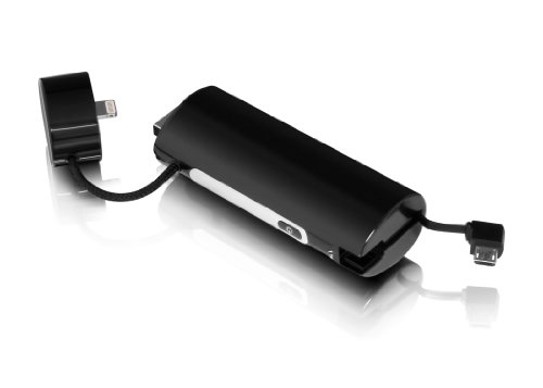 Aluratek 2600 mAh External Battery Pack for iPhone 5, iPod touch 5 and Micro USB Devices (Black)