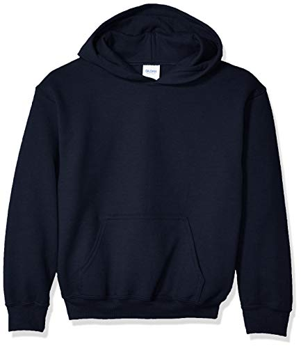 Gildan Kids' Big Hooded Youth Sweatshirt, Navy, Large
