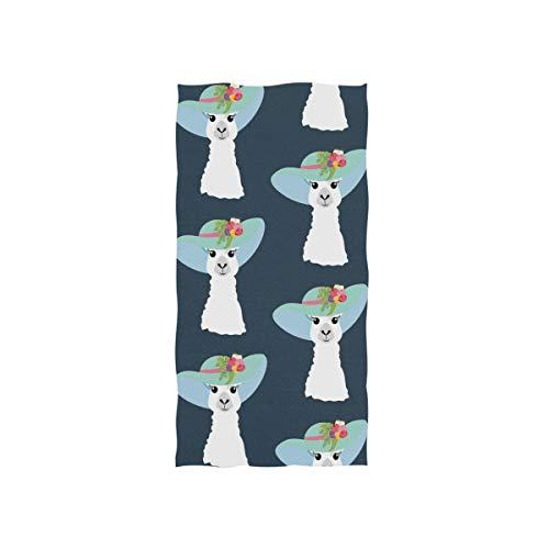 (Anyangquji Llama in Hat Hand Towel 30 x 15)