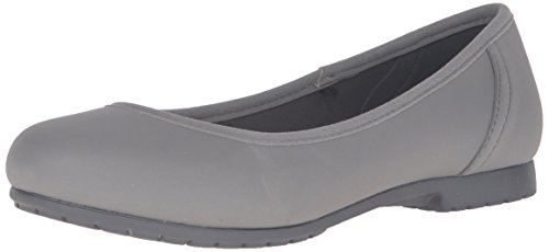 Crocs Women's Marin Color Lite W Flat, Smoke/Graphite, 8 M - Shoes Graphite Color