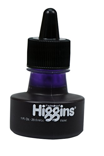 Higgins Dye-Based Drawing Ink, Violet, 1 Oz Bottle (44107)