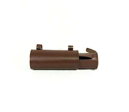 ROLL Hinten Sattel. Bike Bag fahrrad tasche. Gepäckträger. Fahrradgepäcktasche. Satteltasche, Fahrradtasche. Weinlese. Echtes Leder / Vero CUOIO. Farbe Braun. MADE IN ITALY (VIN_R_6C_M)