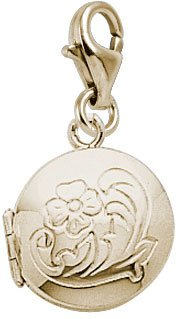Rembrandt Charms Locket Charm with Lobster Clasp, 10K Yellow Gold