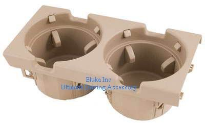 BMW Genuine Cup Holder Beige Tan for E46 - All 3 Series (1999 - 2005) Bmw Genuine Cup Holder