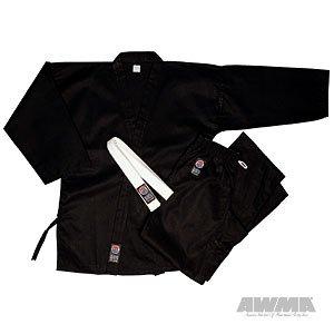 ProForce 8oz 100% Cotton Karate Gi  Uniform - Black - Size 000