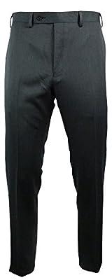 Calvin Klein Men's Slim Fit Flat Front Dress Pants 30W x 30L Grey