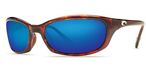 (Costa Del Mar Harpoon Sunglasses, Tortoise, Blue Mirror 580 Plastic Lens)