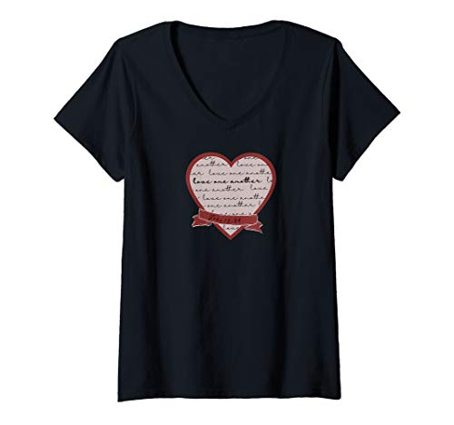 Womens John 13:34 Love One Another V-Neck T-Shirt (Love Others As Christ Loved The Church)