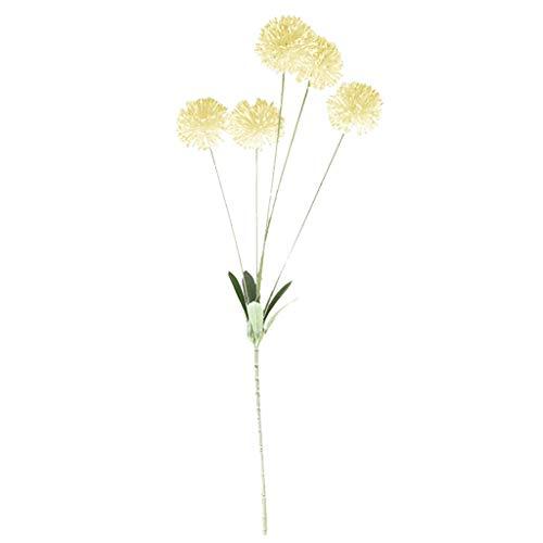Weiliru Artificial Silk Fake Flowers Dandelion Floral Wedding Bouquet Hydrangea ()
