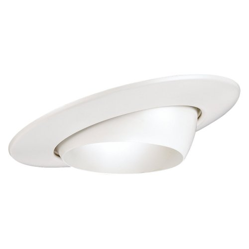 Sea Gull Lighting 1136AT-15 T24 Recessed Lighting Fixture Eyeball Trim, White - Lighting 4' Eyeball Trim