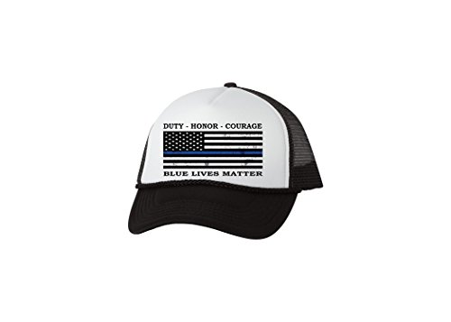 Rogue River Tactical Blue Lives Matter Thin Blue Line Trucker Hat Baseball Cap Support Police Officers - Caps Snapback Exclusive