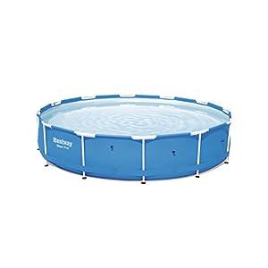 Bestway Steel Pro 56706 – Piscina (Piscina con anillo hinchable, Círculo, 6473 L, Azul, PVC, Poliéster, Acero, 0,8 mm)