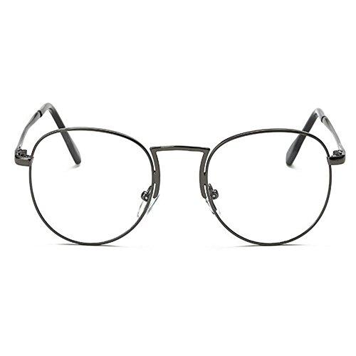 Moda Eyewear Computadora Marco Gris Xinvision Lente Gafas Redondas Mujer Hombre Vintage Retro Claro qwxwfdaC