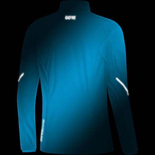 GORE Wear Women's Windproof Running Jacket, R3 Women's Partial WINDSTOPPER Jacket, Size: L, Color: Dynamic Cyan, 100081 by GORE WEAR (Image #4)