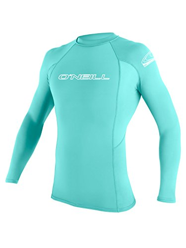 O'Neill Wetsuits UV Sun Protection Youth Basic Skins Long Sleeve Crew Sun Shirt Rash Guard, Sea Glass, 6