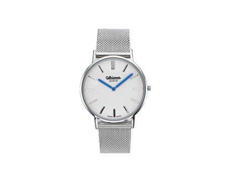 Altanus - Reloj de pulsera correa de Milanaise Plata y Esfera Blanco Altanus 7962b: Amazon.es: Relojes