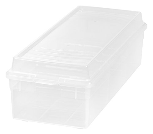 IRIS USA 166100 Large Divided Modular Storage Box, Clear (Roughneck Tote Storage)