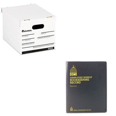 KITDOM600UNV95223 - Value Kit - Dome Bookkeeping Record (DOM600) and Universal Economy Storage Box (UNV95223)