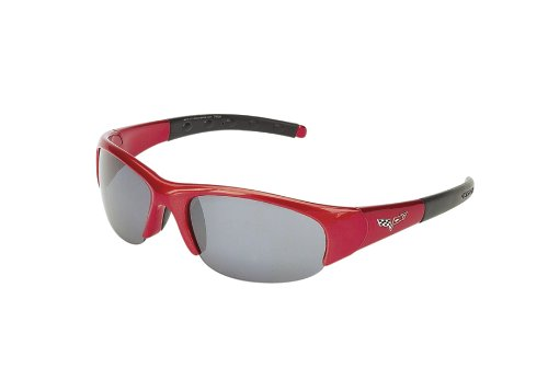 CORVETTE EYEWEAR's C6 logo series red frame with 2 sets of polycarbonate - Jrs Sunglasses