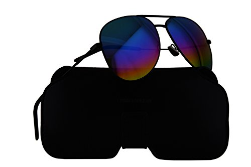 Saint Laurent Sunglasses Classic 11 Rainbow Black w/Multicolor Lens 59mm 007 - Aviator Classic Saint Sunglasses 11 Laurent