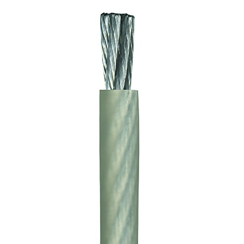 Stinger SHW10C 50-Feet of 1/0 Gauge Clear Hyper-Flex Power/Ground Cable, Clear