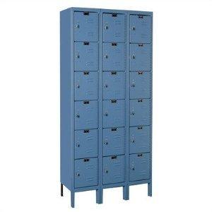 Hallowell U3228-6-HG Premium Box KD Metal Locker, Unassembled, 3-Wide Grouping, 6 Tier, (Kd Lockers)