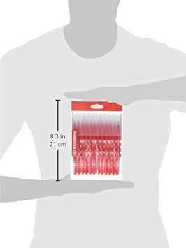 Stabilo Power/ /Ricarica Schoolpack di 12/pennarelli punta media rosso