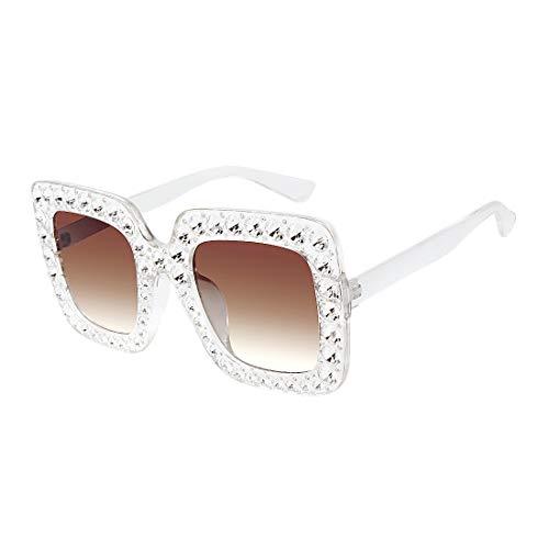 27454ea023d ROYAL GIRL Sunglasses Women Oversized Square Crystal Brand Designer Shades