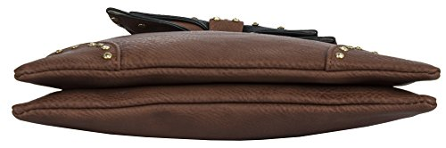 Cross Medium Bag Bow Body Size Dark Black Shop 2 Big Womens Handbag amp; Compartment Grey 2 Design Messenger Shoulder pzFfWvn