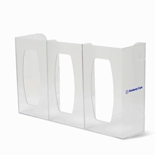Halyard Health 36728 Three Glove Box Holder/Dispenser, 17.06'' Width x 10.13'' Height x 4.25'' Diameter, Semi-transparent (Case of 6)