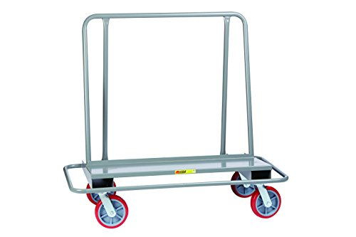 Little Giant DCB-2654-8PY Drywall Cart with Steel Bumper Frame, 4 Swivel, 8'' Nonmarking Polyurethane, Gray by LITTLE GIANT