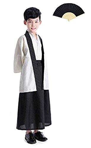 Fuji Hakama Japanese Traditional Costume Kimono Child Costume (130, Rice -