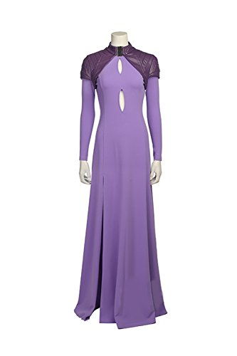 Medusa Costume Girl (Medusalith Costume Deluxe Purple flax Dress Medusa CL Inhumans Custom Made)