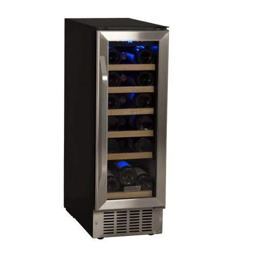 EdgeStar 18 Bottle Built-In Wine Cooler - Black/Stainless Steel by EdgeStar
