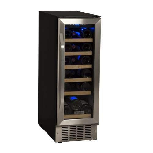 (EdgeStar CWR181SZ 12 Inch Wide 18 Bottle Built-In Wine Cooler - Black/Stainless Steel)