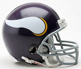 Minnesota Vikings 1961-79 Throwback Replica Mini Helmet w/Z2B Mask - Licensed NFL Football Merchandise
