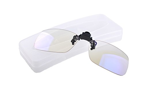 EYES PC Blue Light blocking Clip-ons. Reduce Digital Eyestrain. UV and Blue Light blocking eyewear for office, gaming, all users of LED digital devices. Style 790 +0 Power