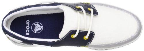 LoPro Canvas Boat Sneaker Men - Zapatillas para hombre Blanco - Blanc (White/Navy)