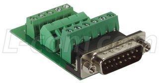 L-COM DGB15MT1 D-SUB CONNECTOR, STANDARD, PLUG, 15POS ()