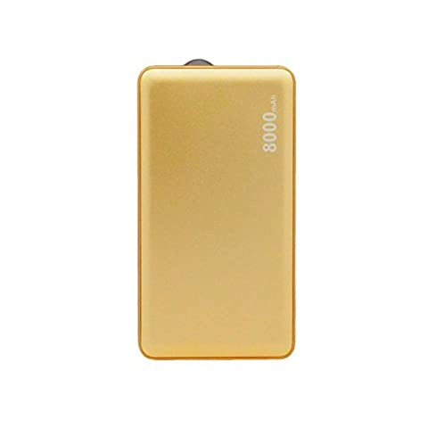 8000 mAh Gold Color USB Power Bank Portable External Battery Charger For Huawei Ascend Y600 (Huawei Ascend Y600 Battery)