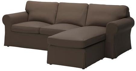 Ikea EKTORP Footstool Ottoman Slipcover Cover NORDVALLA DARK GRAY New Sealed!