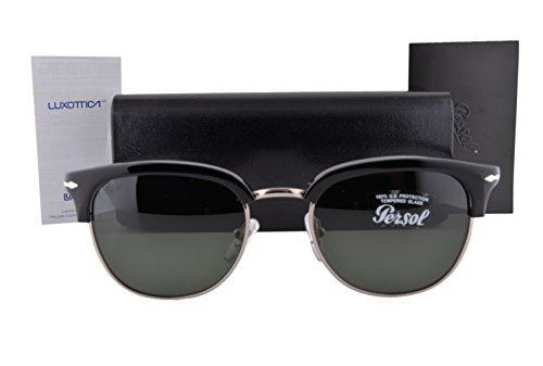 Amazon.com: Persol PO3105S anteojos de sol Negro w/verde ...