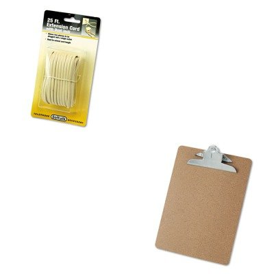 KITSOF04130UNV40304 - Value Kit - Softalk Telephone Extension Cord (SOF04130) and Universal 40304 Letter Size Clipboards (UNV40304)