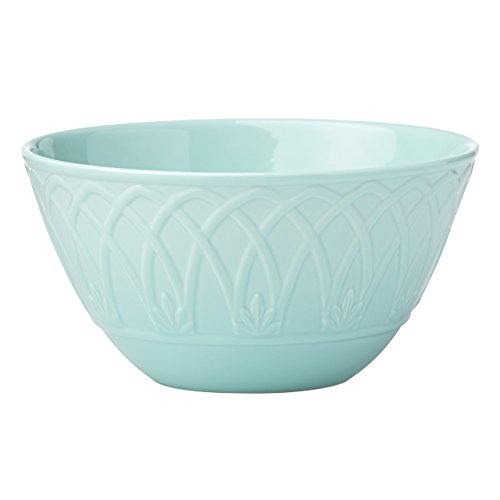Lenox British Colonial Carved All Purpose Cereal Bowl, Aqua - Aqua Cereal Bowl