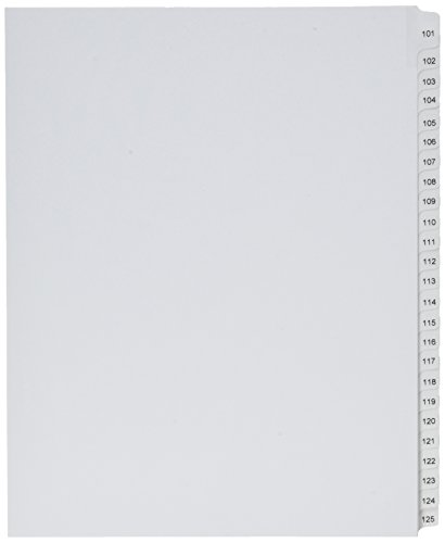 Avery Collated Legal Dividers Allstate, Letter Size, Tabs 101-125, 1 Set, White (01705)